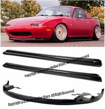For 90-97 Mazda Miata NA JDM FD Style Side Skirts W/ R-Package Style Front Lip