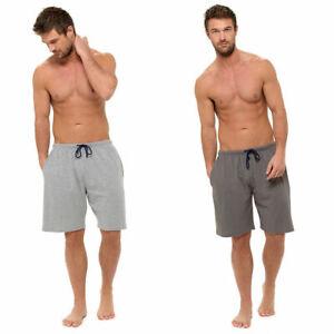 Mens Jersey Pyjamas PJ Sleep Lounge Shorts Soft Honeycomb Cotton Blend M L XXL