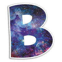 2 x 10cm Space Letter B Vinyl Stickers Name Cool Sticker Laptop Luggage #18405