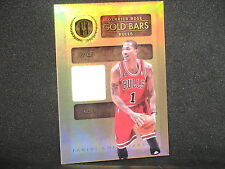 Derrick Rose 2010-11 Panini Gold Standard Bars Jersey (67/199) Chicago Bulls #15