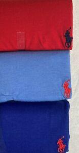 Polo Ralph Lauren Men's 3-Pack Cotton V-Neck Tees Red/Cabana Blue/Royal Sz L NWT