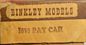 HO Binkley 1850 Pay Car Started Car Classic Craftsman Kit see photos