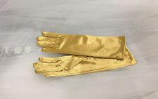 """9.25"""" Satin Children Glove Gold 8-12 Years."""