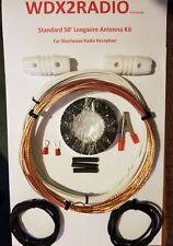 Shortwave Radio Antenna - 50' Outdoor Longwire -  Easy Up w / Instructions