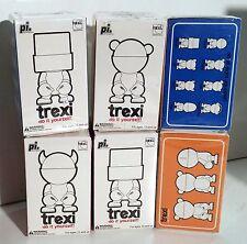 Trexi SET 6 figure Play Imaginative Diy tipo Munny 6cm in morbido vinile