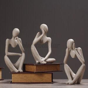 Modern Abstract Thinker Sculpture Face Resin Ornament Statue Figurine Decor UK