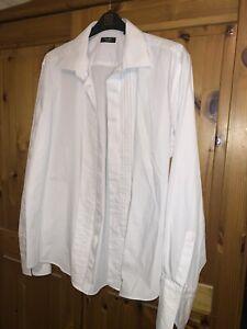 "Mens Tuxedo Shirt Moss Bros 17"" White"