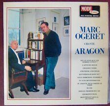 Marc Ogeret chante Aragon 33 tours Mode Disques