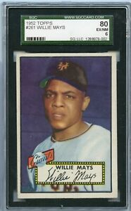 1952 Topps WILLIE MAYS #261 rc rookie SGC 6 ex/nm BOLD COLOR