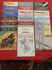 19 Assorted Supplemental Piano Books From Alfred