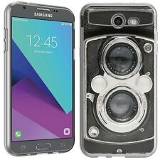 for Samsung Galaxy Amp Prime 2(Vintage Camera)Clear TPU skin phone case cover