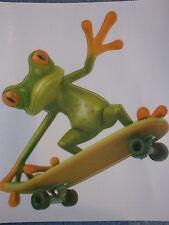 "Car Window sticker Stylish 3D  Frog Skateboading Car Decal Graphics Sticker 5"""