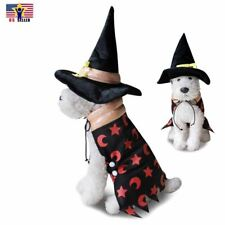 Witch Pet Costume Uniform Dress Up Cute Dog Cat Funny Cosplay Halloween Party