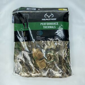 Realtree Men's Performance Thermal Camo Bottom Size Large NEW