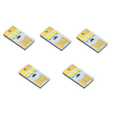 5pcs Mini USB Power 3 SMD LED Night Light 1W Camping Lamp Torch White s504