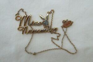 Miss November Playboy Necklace