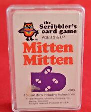 Mitten Mitten Vintage Card Game The Scribbler Whitman 1978 Case 4913