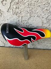 """BLACK FLAMES KIDS BICYCLE SEAT 22.2mm SEAT POST BMX for 12"""" or 16"""" BOYS bikes"""