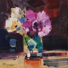 JOSE TRUJILLO Oil Painting IMPRESSIONISM STILL LIFE FLOWERS ORIGINAL ARTIST NR