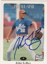 1996 Carolina League All-Stars 2 Best #7 John LeRoy Bellevue Washington WA  AUTO
