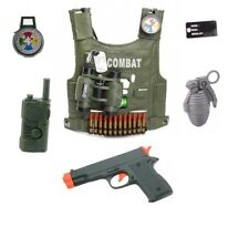 10PC Kids Army Fully Loaded Tactical Costume Combat Assault Vest Roleplaying