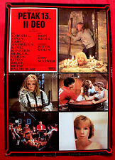 FRIDAY THE 13TH PART II 1981 HORROR BETSY PALMER JOHN FUREY EXYU MOVIE POSTER