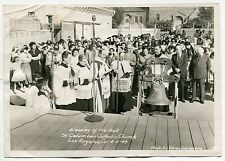 """1949 Photo: """"Blessing Of The Bell"""" [St Columban Catholic Church, Los Angeles]"""