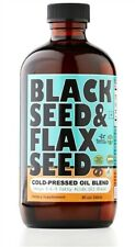 Black Seed and Flax Seed Cold Pressed Oil Blend 8oz.