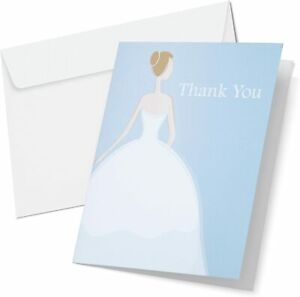 Wilton 1008-8937 Bride Thank You Cards and Envelopes , 12-Pack
