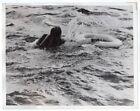 1941 British Destroyer Rescues Torpedoed Merchant Seaman Original News Photo