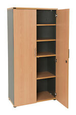 Stella Stationary Cabinet Half Full Door Storage Unit Cupboard Beech Ironstone