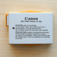Genuine Canon LP-E8 Li-ion Battery Pack for EOS 550D 600D Kiss X4, Rebel T3i,T2i