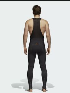 Adidas Adistar Belgements Padded Cycling Bib Tights Sz Medium BS4715 Black $250