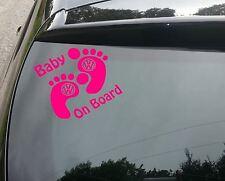Baby on board pink Funny Car/Window JDM VW EURO Vinyl Decal Sticker