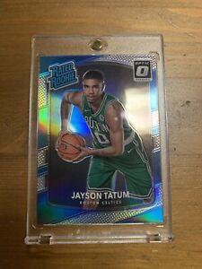 2017-18 Donruss Optic Jayson Tatum Rc Rated Rookie Silver Holo Prizm Grade Ready