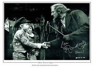 Mark LESTER & Ron MOODY SIGNED Autograph Oliver Fagan 16x12 Photo AFTAL RD COA