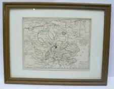 Ancienne carte, handcoloriert, saxe, pour 1750,, encadrés (232/13038)