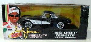 Ertl 1/18 Scale Diecast - 32892 1961 Chevy Corvette Black John Force Series