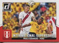 Donruss soccer 2015 Int. superestrellas Chase Card #77 Paolo Guerrero