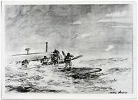 Zeichnung des Kriegsberichters von Medrey. Orig.-Pressephoto von 1941