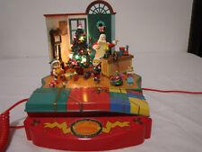 Music Box Christmas Telephone Santa Claus Workshop Phone Lights And Motion