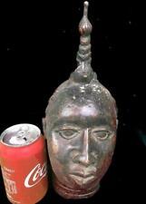 Old Tribal Ife Bronze Head of Oba ( King)      --- Nigeria  (B)
