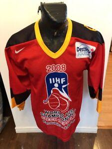 MENS SMALL BAUER Hockey Jersey 2008 IIHF WORLD U20 CHAMPIONSHIP CZECH REPUBLIC