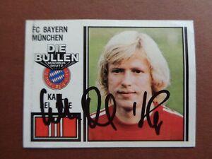 Kalle Del´Haye Bayern München 80/81 Panini 81 Sammelbild signiert ungeklebt