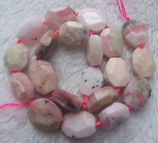 """13x18mm Natural Pink Opal Faceted Freeform Loose Beads 15.5"""""""