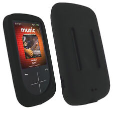 NEW Black Silicone Skin for SanDisk Sansa Fuze Plus+ Case MP3 Fuse+ Cover Holder