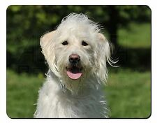 White Labradoodle Dog Computer Mouse Mat Christmas Gift Idea, AD-LD3M
