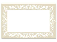 50ct. Soft Beige Pearl Lace Border Blank Florist Enclosure Cards Small Tags