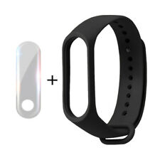 For Xiao Mi Band 3 Bk Sports Silicone Replacement Watch Band+Tpu Explosion-proof