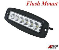 18w 6 Led Work Light Flush Mount Fit Bar Offroad Spot Lamp Car Truck 4wd Uk